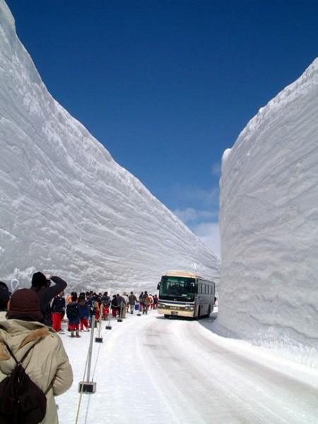 雪の大谷 死ぬまでに見たい絶景!雪の大谷ウォークを楽しむ。