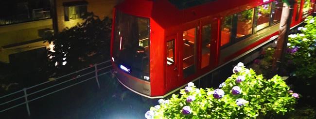 あじさい電車ライトアップ 全席指定「あじさい電車」予約は【6月1日】から!